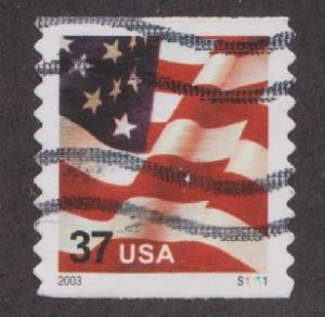 US #3632C Old Glory Used PNC Single plate #S1111