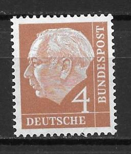 Germany 703 4pf Heuss single MNH