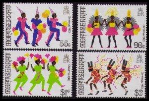 1983 Montserrat 526-529 Christmas / Carnival