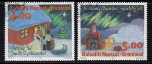 Greenland Sc 275-6 1994 Christmas stamp set used