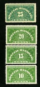 US Stamps # QE1-4 XF/S Pristine set OG NH