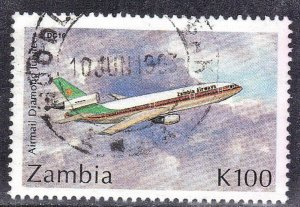 ZAMBIA  #581  USED  1992  DC10    SEE SCAN