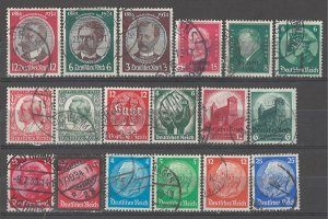 COLLECTION LOT # 4954 GERMANY 18 STAMPS 1930+ CV+$20