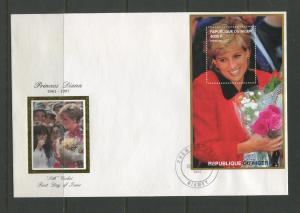 STAMP STATION PERTH Niger #947 FDC S/S Princess Diana Memorial Silk Cachet CTO