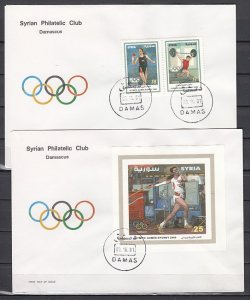 Syria, Scott cat. 1456-1457. Sydney Olympics issue. 2 First day covers. ^