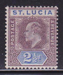St Lucia 46 Mint Hinged ! scv $ 29 ! see pic !