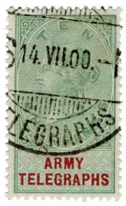 (I.B) QV Telegraphs : Army Telegraphs 10/- (Standerton - Boer War)