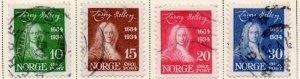 Norway Sc 158-61 1934 Holberg stamp set used