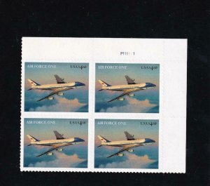 $4.60 Air Force Priority Mail Plate Block/4, Sc #4144,MNH (13906)