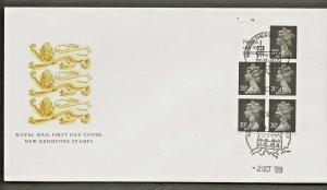 2/10/1989 £1.00 VENDING BOOKLET CYLINDER NUMBER FDC