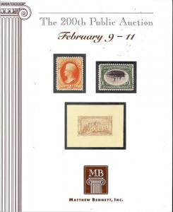 The 200th Public Auction, Bennett 200