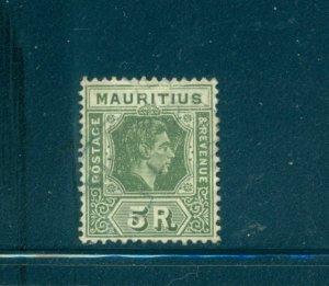 Mauritius - Sc# 221. 1943 Geo. VI 5R  Used. $42.50.