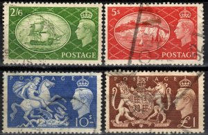 Great Britain #286-9  F-VF Used CV $25.00  (X2817)