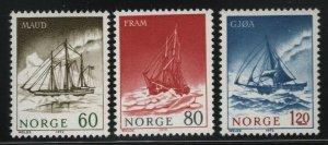 Norway 1972 Polar Exploration set Sc# 596-98 NH