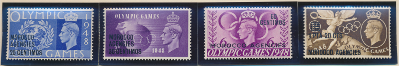 Great Britain, Offices In Morocco Stamps Scott #95 To 98, Mint Hinged - Free ...