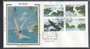 Palau, C4a, Sea Birds ColoranoSilk FDC,Used
