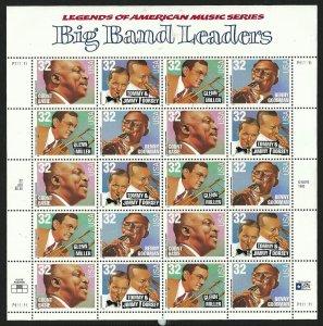 PCBstamps   US #3096/3099 Sheet $6.40(20X32c)Big Band Leader, MNH, (5)