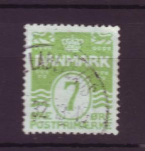 J3207 JL stamps 1913-30 denmark used #91 $7.75v apple green