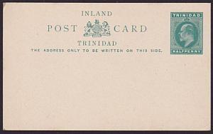 TRINIDAD EVII ½d postcard fine unused.......................................5397