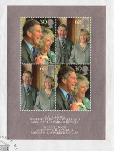 Great Britain Sc 2279 2005 Charles Wedding stamp sheet used