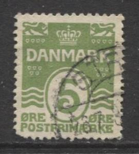Denmark - Scott 90 - Definitive Issue -1930 - Used - Single 5o Stamp