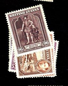 British Guiana #237-41 MINT FVF OG LH Cat$48