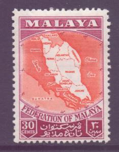 Malaya Federation Scott 83 - SG4, 1957 Map 30c MH*