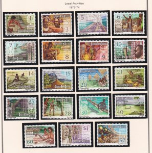 Papua New Guinea # 369-388, Local Activities, LH & NH, 1/3 Cat.