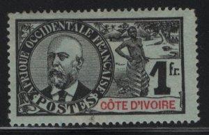 IVORY COAST, 34, HINGED, THIN, DISCOUNT, 1906-07, Dr. N. Eugene Ballay
