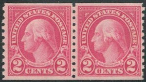 MALACK 599 F/VF OG NH Pair, Rich Color! (Stock Photo..MORE.. w2594