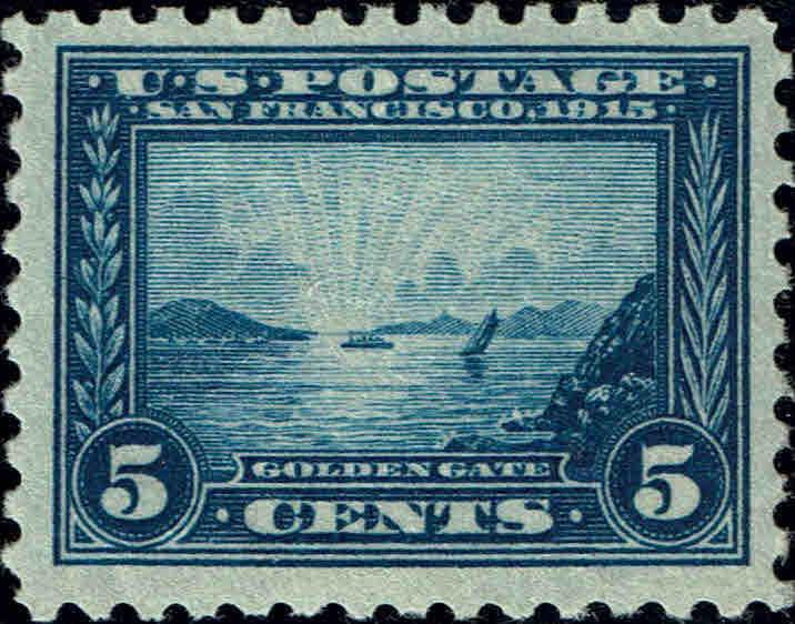 #403 1915 5c PANAMA-PACIFIC PERF 10 ISSUE MINT-OG/NH--VF--SMALL GUM SKIP