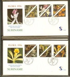 1996 - Rep. Surinam FDC E190AB - Flora - Flowers - Orchids [LN035]