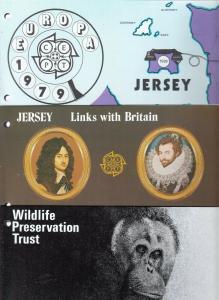JERSEY 3 STANDARD TYPE PACKS-  EUROPA, LINKS WITH BRITAIN, WILDLIFE TRUST