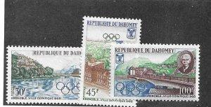 Dahomey 241-43 MNH C/Set