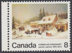 Canada - #610 Cornelius Krieghoff Painting - MNH