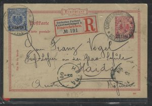 TURKEY COVER (PP0605B)  1900 GERMANY OFFICES IN 20PA PSC+1P REG PSC TO GERMANY