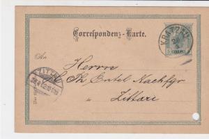 Austria 1902 Kratzau Cancel to Zittau Stamps Card ref R 19485