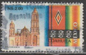 MEXICO 1791 N$2.00 Tourism Coahuila, church, sarape. USED, VF. (613)