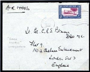 SUDAN Cover Khartoum *GAME WARDEN* Correspondence 1950 MC331