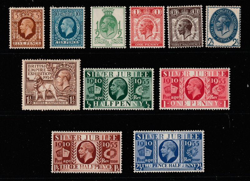 Great Britain a small Mint lot of KGV