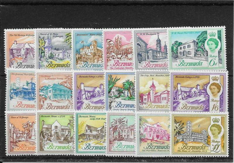 BERMUDA SG163/79 1962-8 DEFINITIVE SET MNH