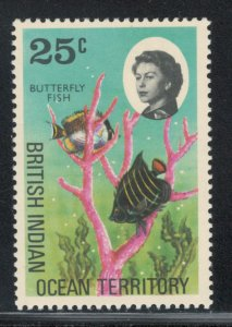 British Indian Ocean Territory 1968 Butterfly Fish 25c Scott # 20 MH