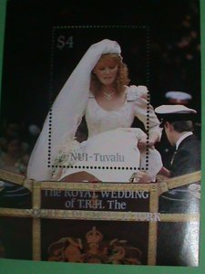 NUI-TAVALU STAMP: ROYAL WEEDING- T.R.H.THE DUKE & DUCHESS OF YORK MINT NH S/S#2
