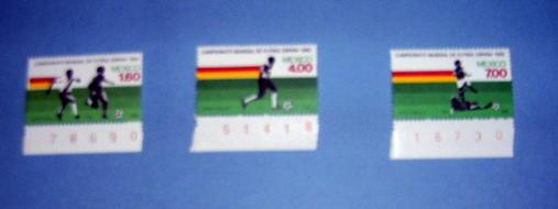Mexico - 1278 - 80, MNH Set...World Cup. SCV - $3.00