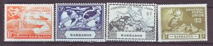 J22209 Jlstamps 1949 barbados set mnh #212-5 upu