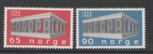 Norway Sc 533-4 1969 Europa stamps mint NH