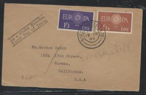 IRELAND (P0110B) 1960 EUROPA SET FDC