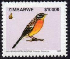 Zimbabwe - 2005 Birds $10000 Bunting MNH** SG 1149