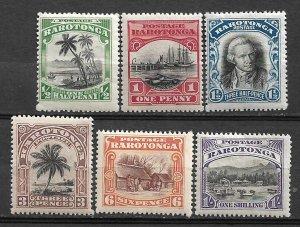 COLLECTION LOT #454 COOK ISLANDS RAROTONGA # 61-6 MH 1920 CV=$35