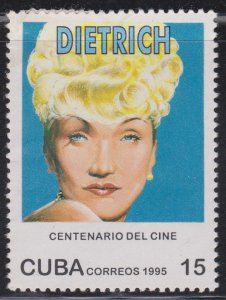 1995 Cuba Stamps Sc 3690  Marlene Dietrich MH NEW
